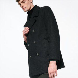 Andrew Marc Burnett Classic Wool Blend Peacoat NEW